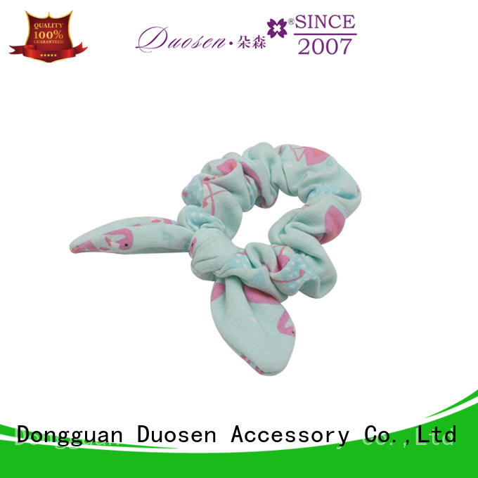 Duosen Accessory hair fabric scrunchies manufacturers for girls