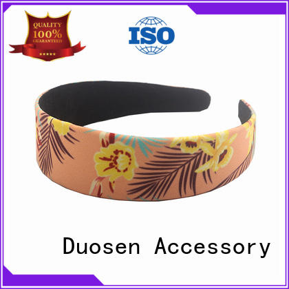 Duosen Accessory elegant fabric hair bands manufacturer for running