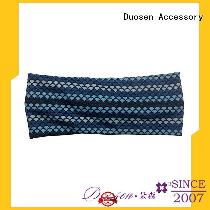 color Custom coffee band organic fabric headband Duosen Accessory hairbands