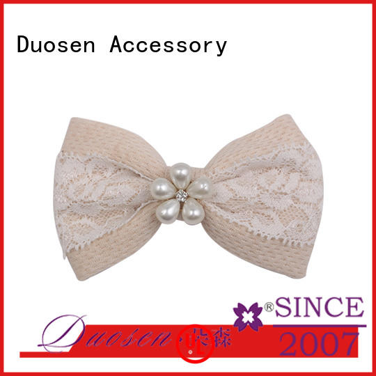High-quality beautiful flower hair clips bow factory for daily life
