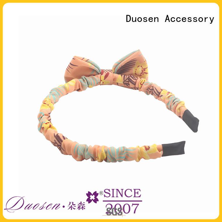 Duosen Accessory Latest organic fabric bow headband company for prom