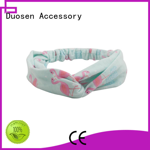 Duosen Accessory covered fabric headbands Supply for daily Life