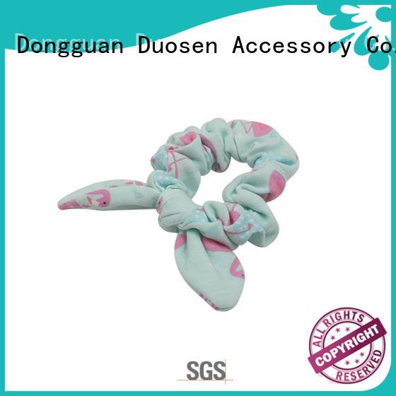 Duosen Accessory Custom fabric hair tie manufacturers for girls