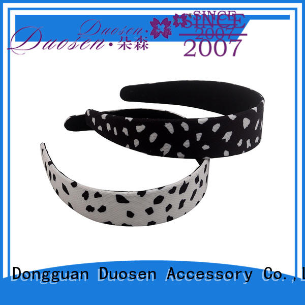 Duosen Accessory striped eco-friendly headband Suppliers for sports