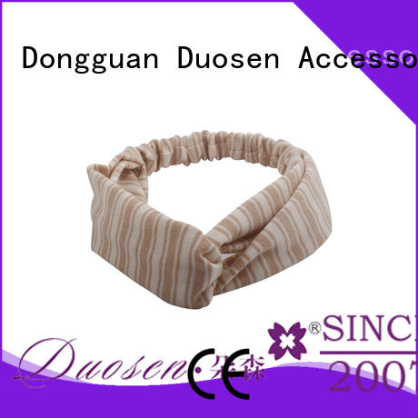 Duosen Accessory white organic fabric bow headband manufacturers for party