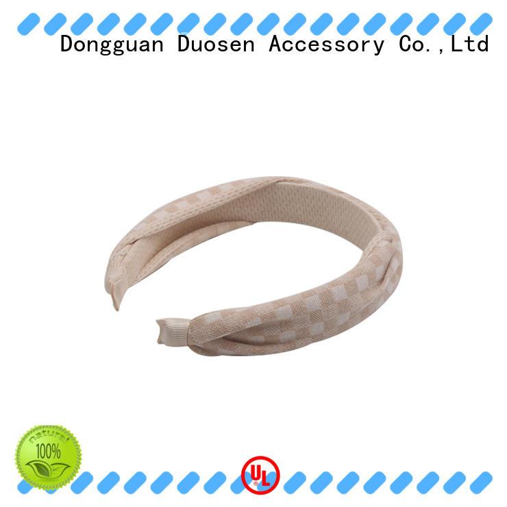 Duosen Accessory Best organic fabric hairband company for sports