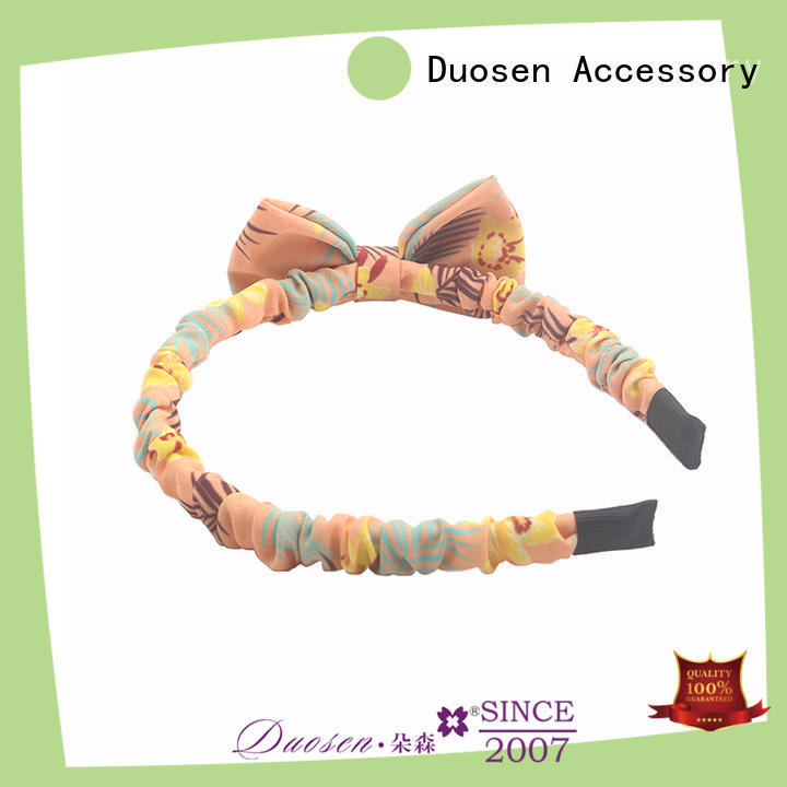 Duosen Accessory red fabric headbands wholesale Supply for dancer