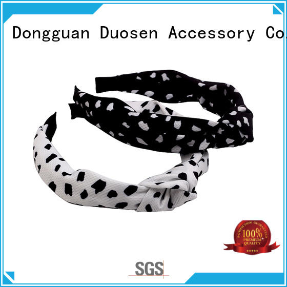 Duosen Accessory Latest organic fabric hairband manufacturers for dancer