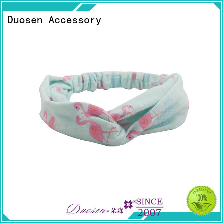 Duosen Accessory Top organic fabric bow headband for business for party