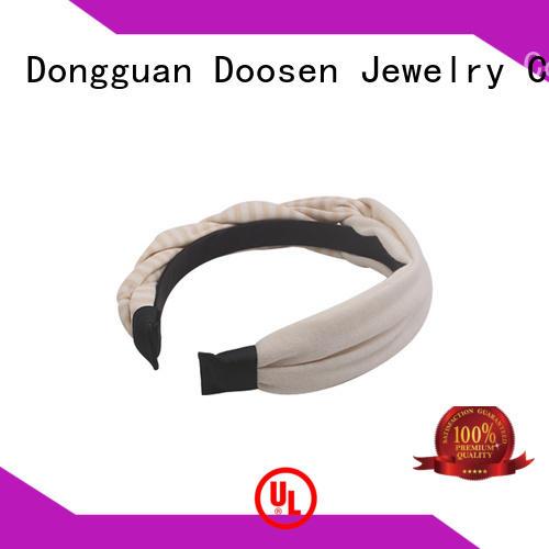 Duosen Accessory Brand special pattern friendly custom organic material cross headband