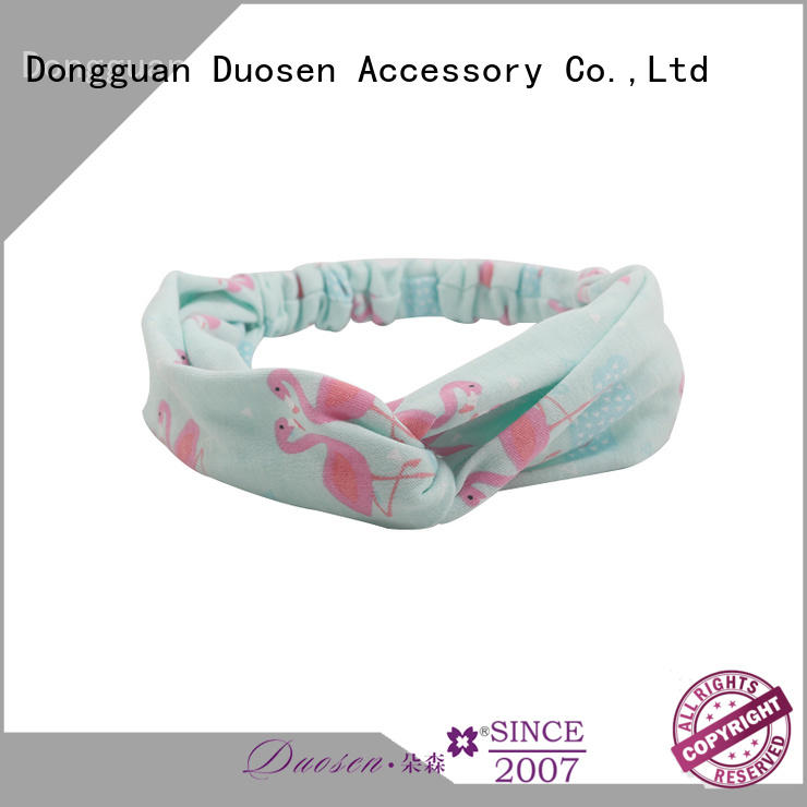 Custom organic fabric hairband recycled for business for sports