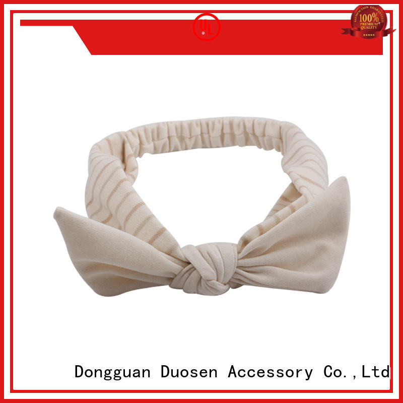 Duosen Accessory ODM recycled fabric hairband manufacturer for daily Life