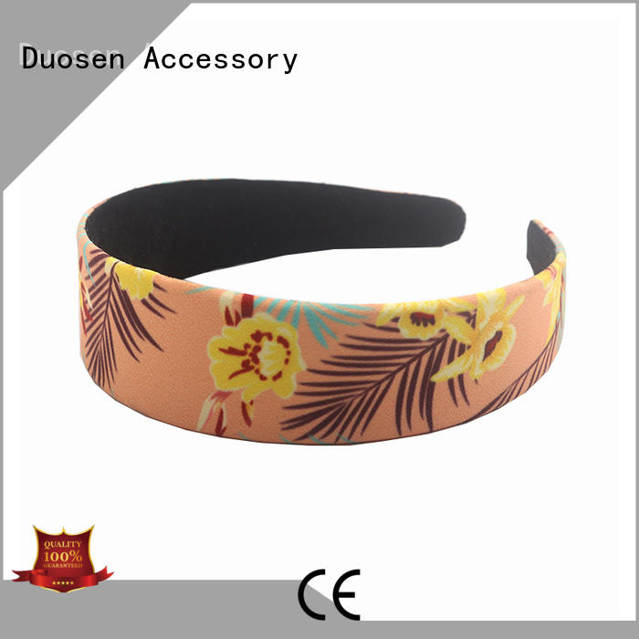 Duosen Accessory red cloth hairband manufacturers for dancer