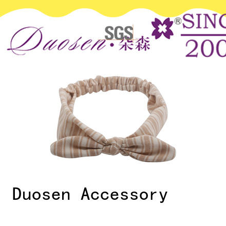 Duosen Accessory Custom fabric knot headband Suppliers for sports