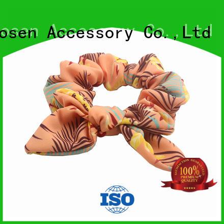 Duosen Accessory cute bow hair scrunchie company for women