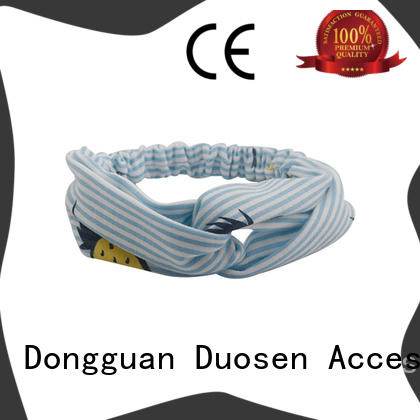 Duosen Accessory sides organic cotton headband supplier for party