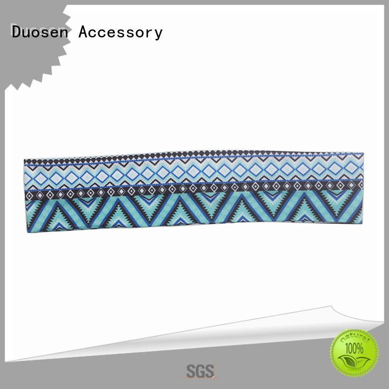hairband band organic fabric headband white Duosen Accessory company