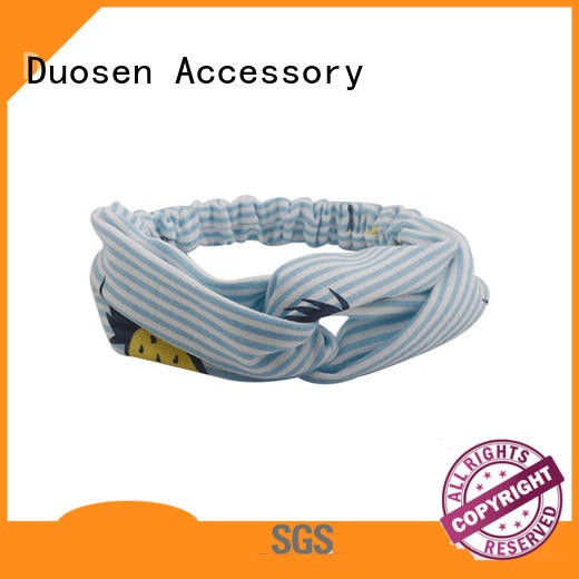 Duosen Accessory eco-friendly organic fabric headband series for sports
