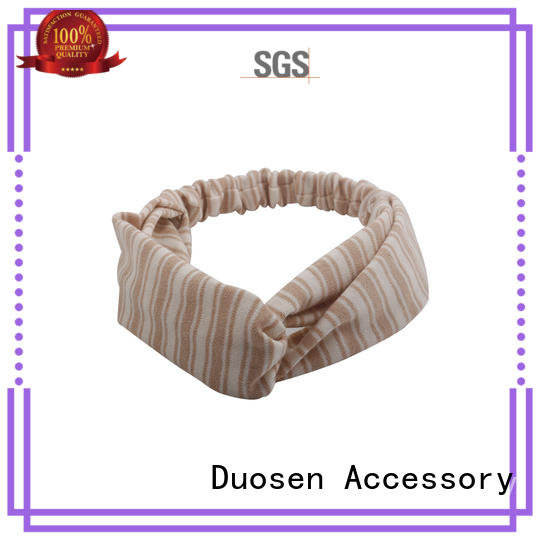 Duosen Accessory cow fabric tie headbands for business for prom
