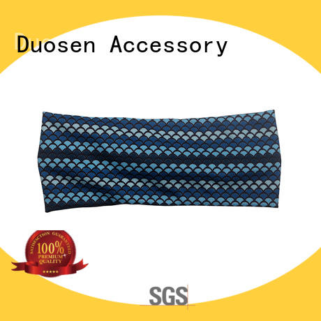 Duosen Accessory elegant organic fabric headband manufacturer for daily Life