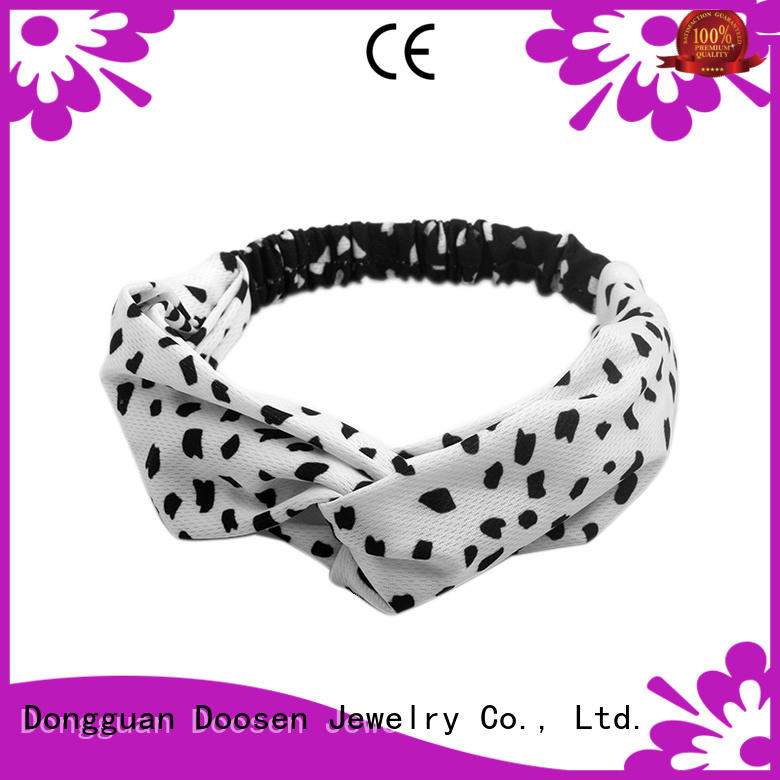 multifunctional red soft organic fabric headband Duosen Accessory Brand company