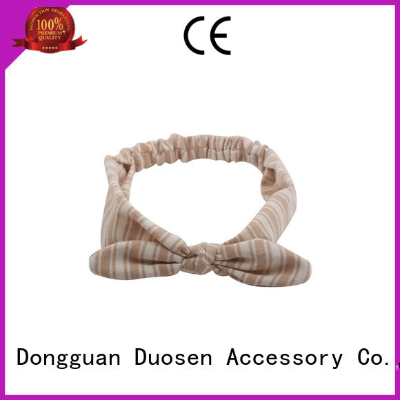 Duosen Accessory flower fabric tie headbands factory for prom