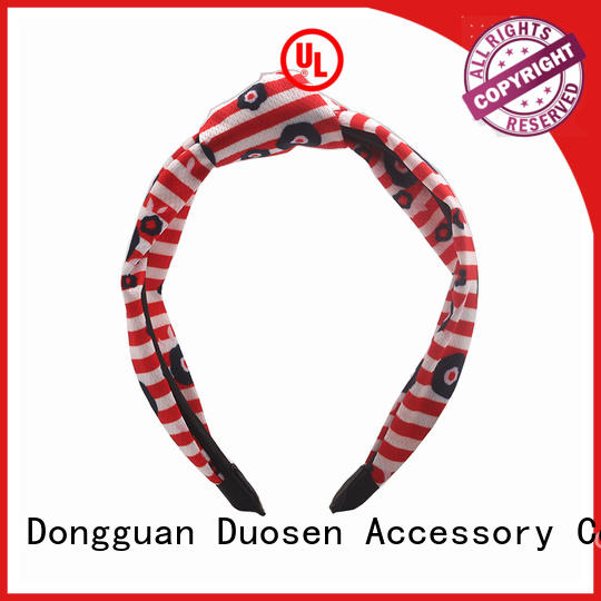 Duosen Accessory changeable recycled fabric hairband Suppliers for running