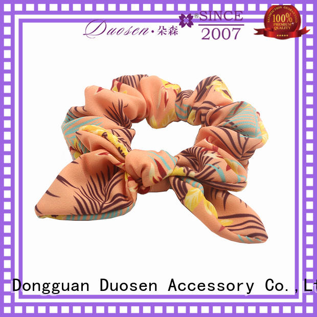 Duosen Accessory Top bow hair scrunchie Supply for women