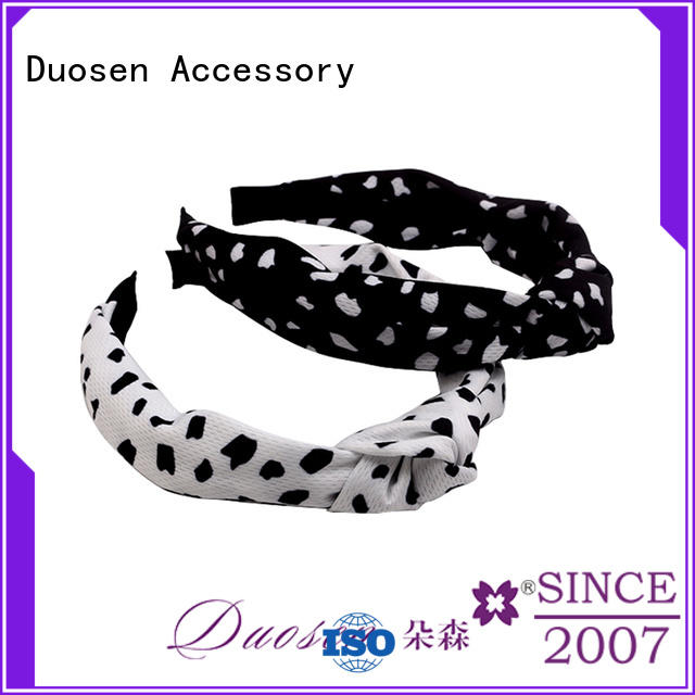 Duosen Accessory OEM fabric hair bands with regular use for daily Life