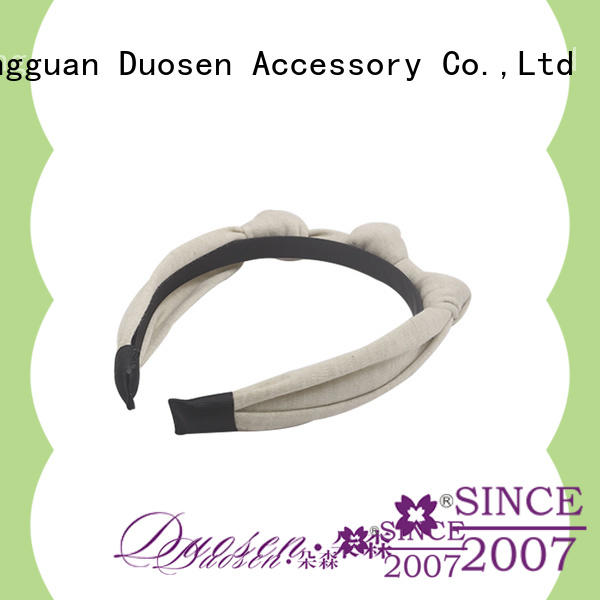 Duosen Accessory High-quality wire fabric headband factory for prom
