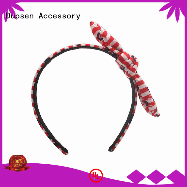 Duosen Accessory sides wire fabric headband supplier for party