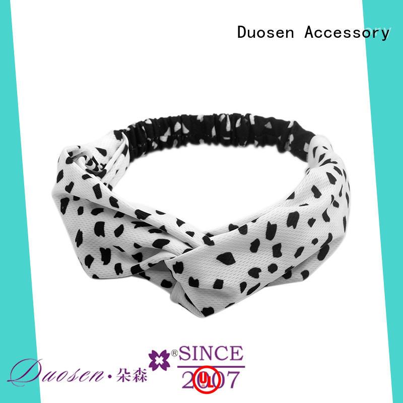 Duosen Accessory Custom organic fabric bow headband Suppliers for prom