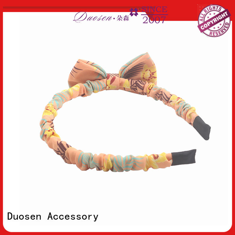 Duosen Accessory bow turban headband Suppliers for daily Life