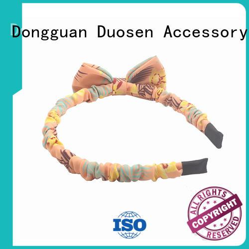 Duosen Accessory eco-friendly turban headband customized for dancer