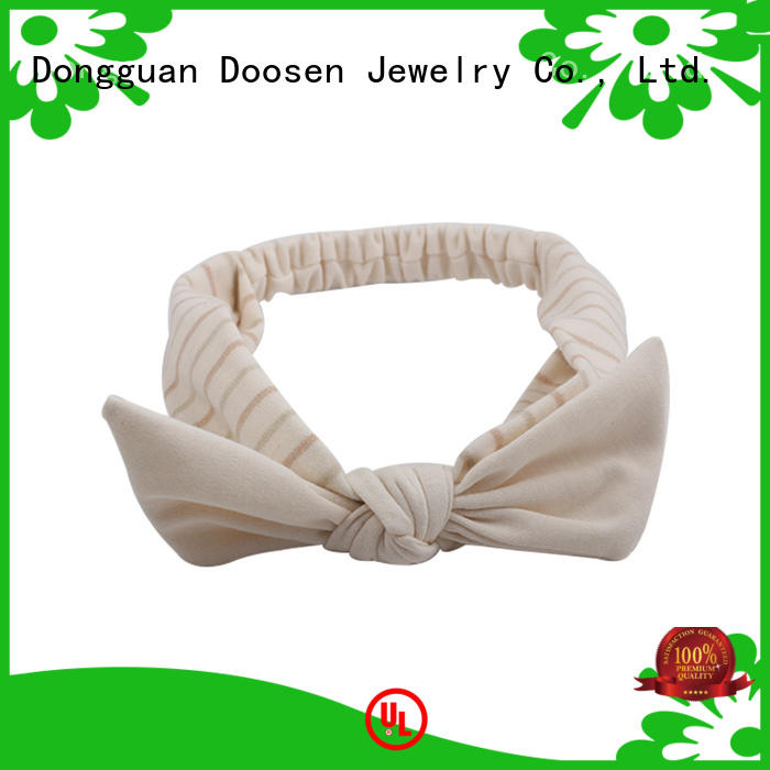 Wholesale covered cross organic fabric headband Duosen Accessory Brand