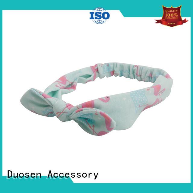 Duosen Accessory headband fabric bow headband Supply for sports
