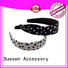 unique design multifunctional organic material cross headband Duosen Accessory Brand