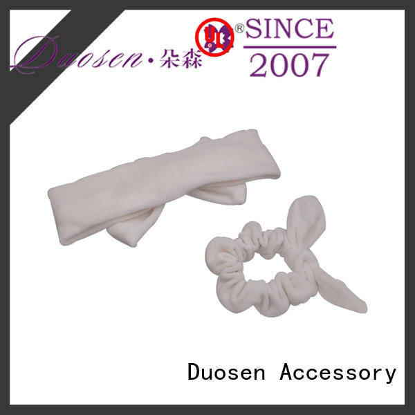 Duosen Accessory light cotton turban headband manufacturer for sports