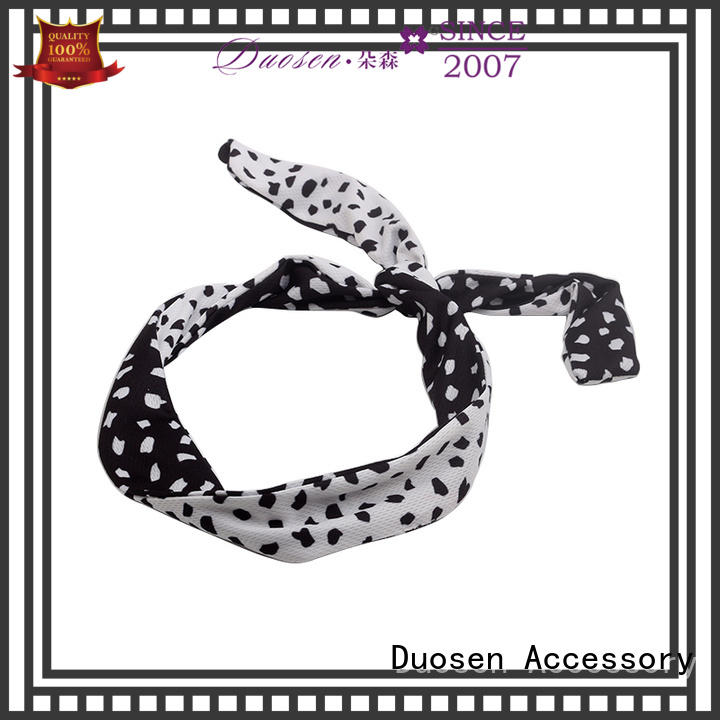 Duosen Accessory hair recycled fabric hairband manufacturer for daily Life