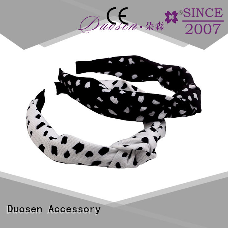 Duosen Accessory bow cotton turban headband for business for daily Life