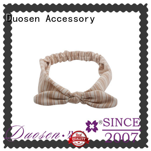 Duosen Accessory bow fabric alice band supplier for prom