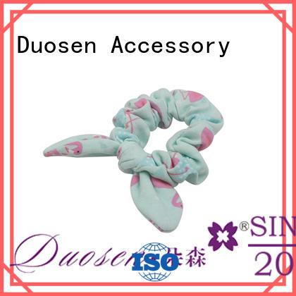organic material hair scrunchy hair fabric scrunchies Duosen Accessory Brand