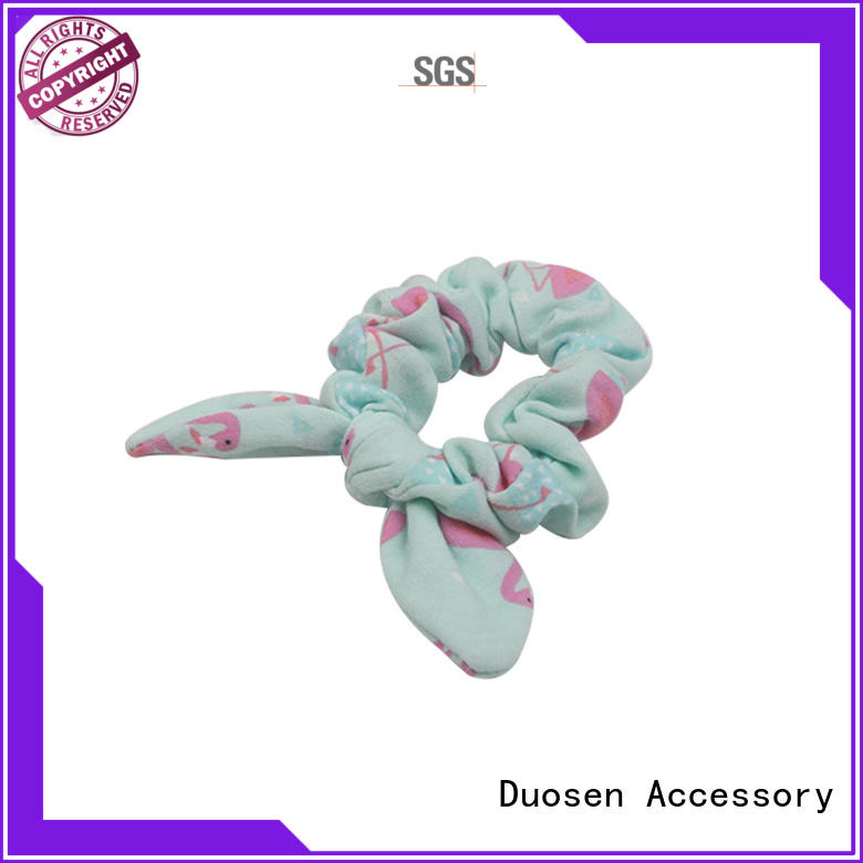 hair eco fabric scrunchies pattern Duosen Accessory