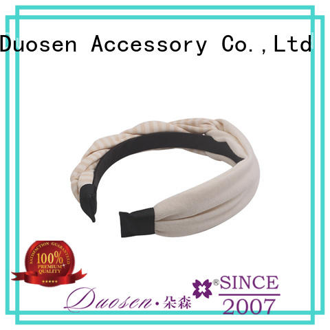 Duosen Accessory blue cotton turban headband company for dancer