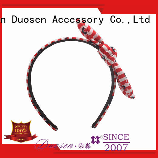 Duosen Accessory flamingo fabric alice band manufacturers for sports