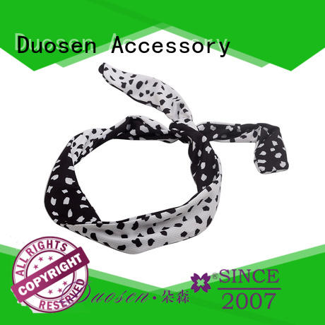 Duosen Accessory changeable fabric alice band manufacturers for dancer