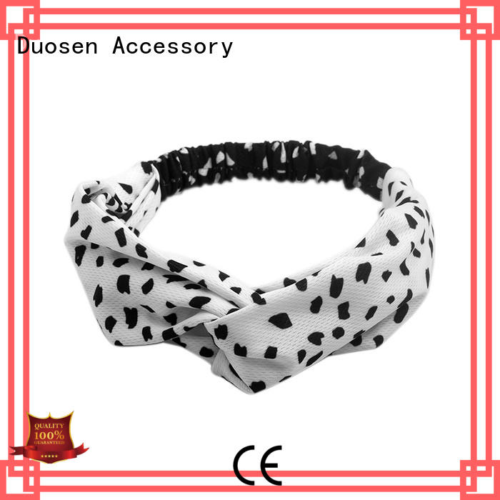 Duosen Accessory cow cheap fabric headbands manufacturers for party