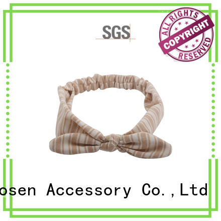 Duosen Accessory ODM organic fabric hairband cross for dancer