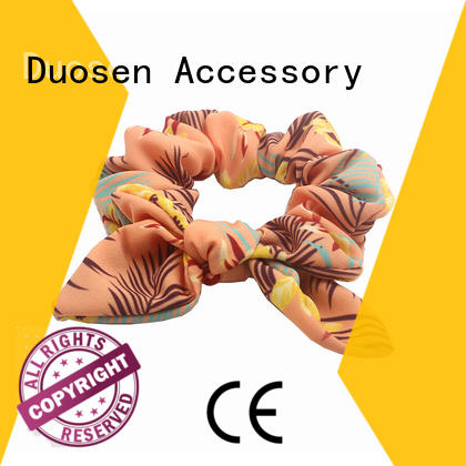 organic bow hair scrunchie on sale for girls Duosen Accessory