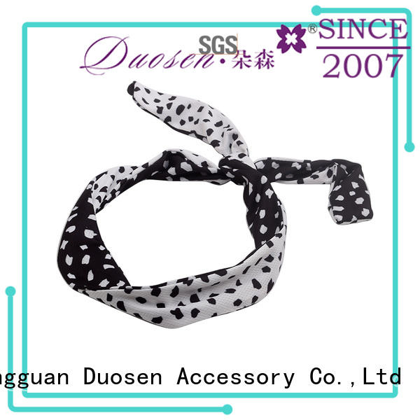 Duosen Accessory Custom cotton turban headband manufacturers for daily Life